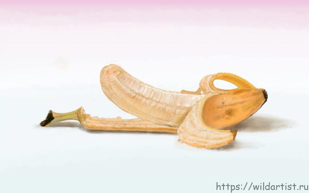 банан, рисунок
