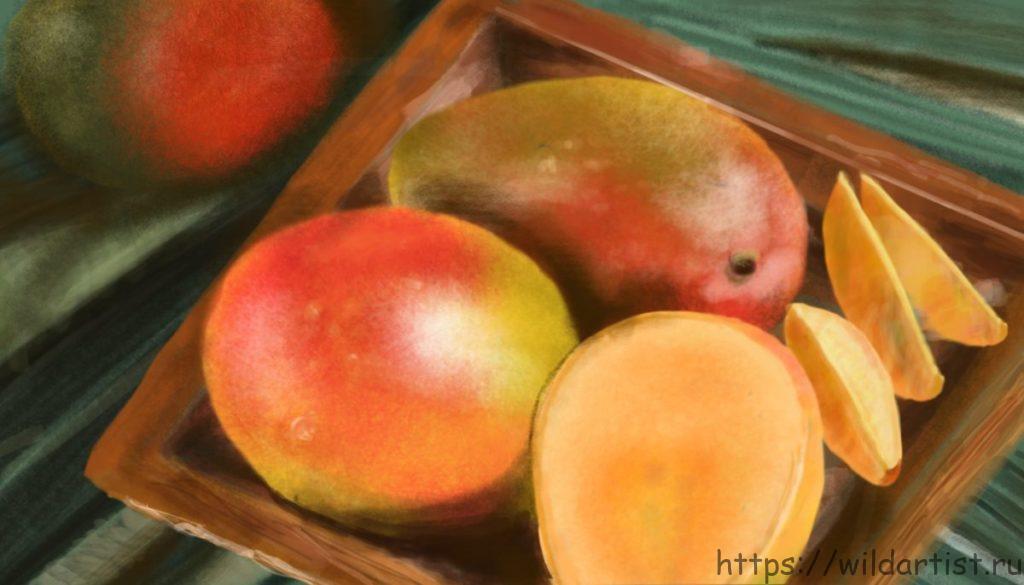манго рисунок
